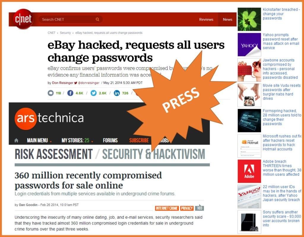 ebay, Adobe, Sony websites compromised